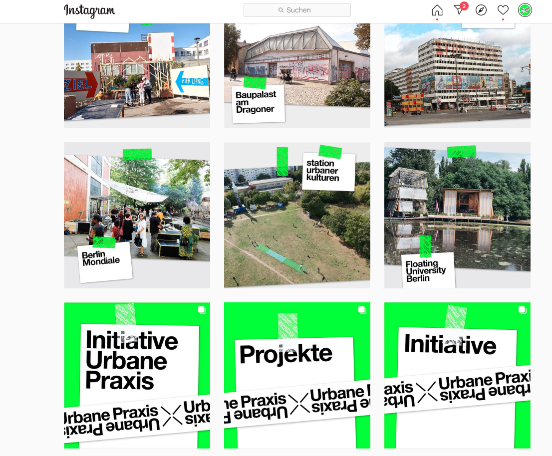 Übersicht der Campusprojekte der Initiative Urbane Praxis
