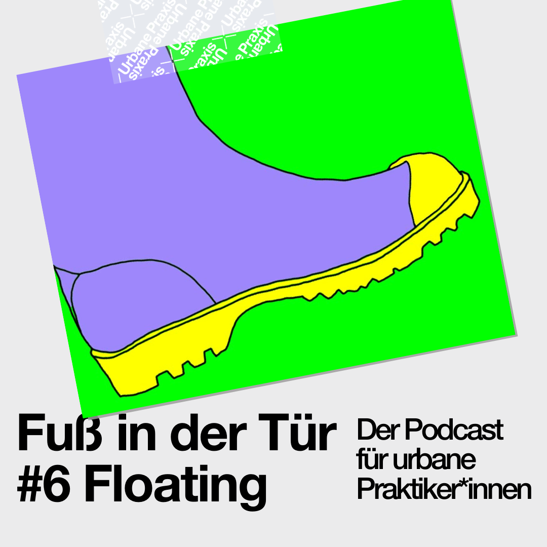 Rain boot, the symbol of the work of the Floating