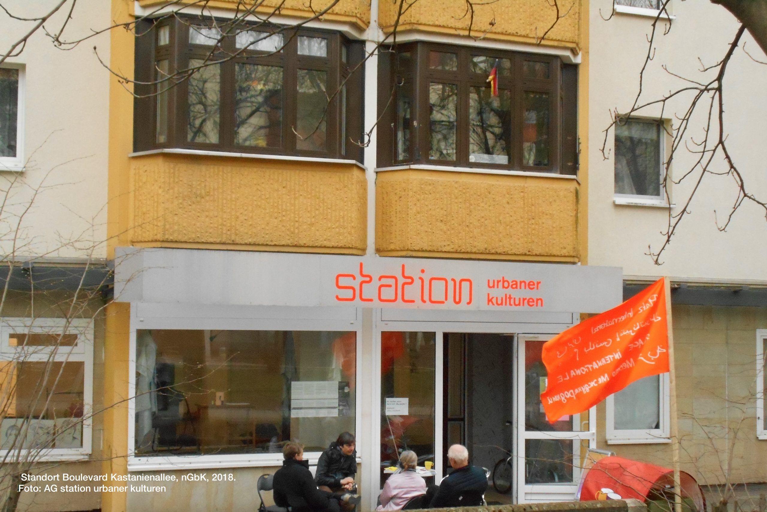 Standort Boulevard Kastanienallee, nGbK, 2018. Foto: AG station urbaner kulturen