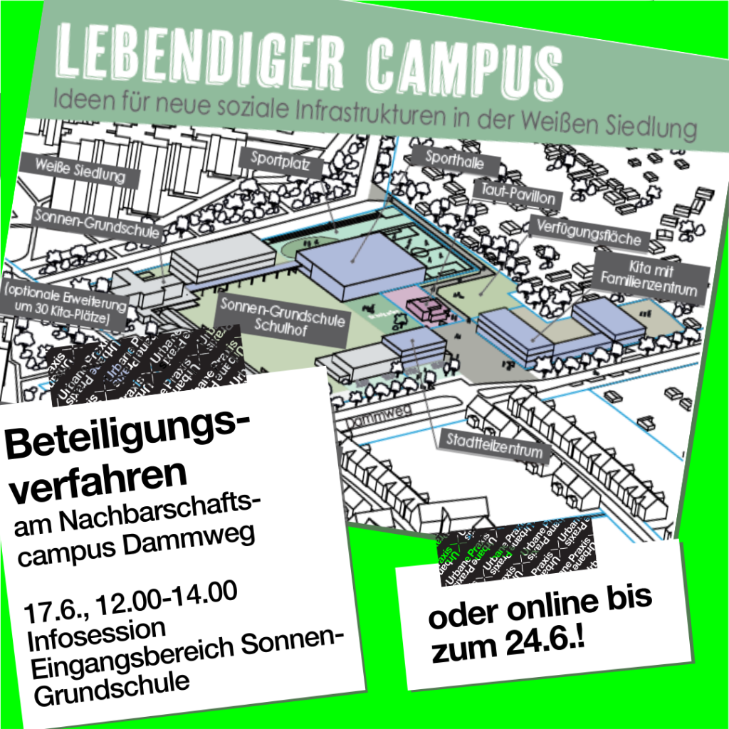 Vorschlag der Entwicklung des Nachbarschaftscampus Dammweg