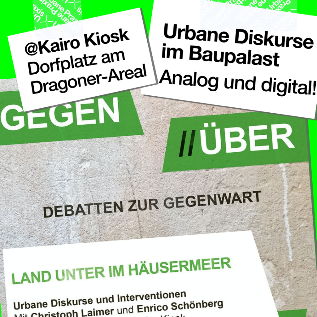 """Plakat der Veranstaltung aus der Reihe """"Gegen//Über - Debatten zur Gegenwart"""""""