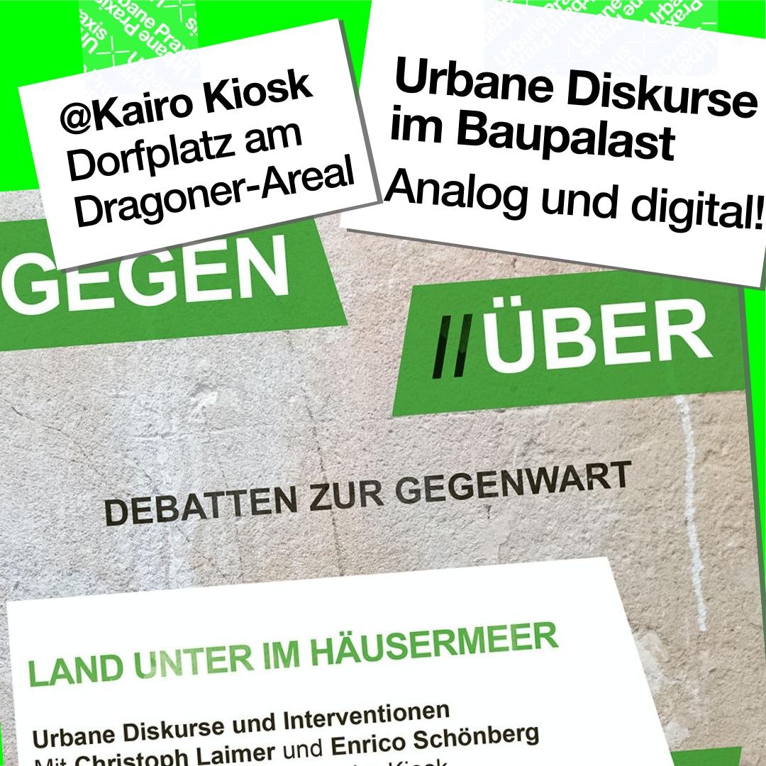 "Poster of the event from the series ""Gegen//Über - Debatten zur Gegenwart"" (Debates about the present)"