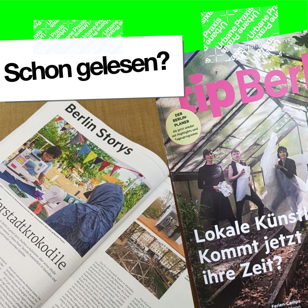 Die Titelseite und ein Ausschnitt von der aktuellen Ausgabe von tip Berlin