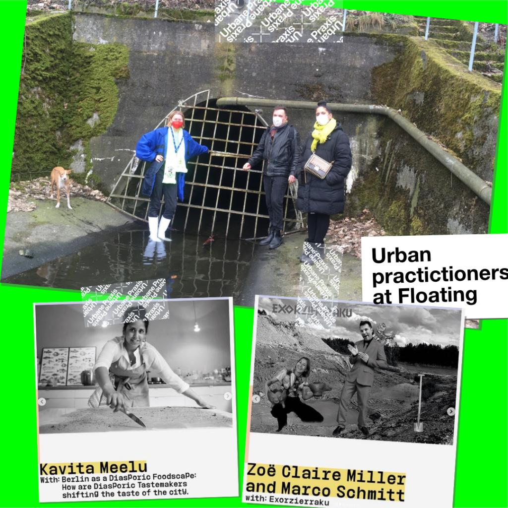 Zoë Claire Miller, Marco Schmitt und Kavita Meelu, die im Rahmen des Open Calls der Urbane Praxis Residency ausgewählten Künstler*innen, die 2021 an der Floating University arbeiten werden