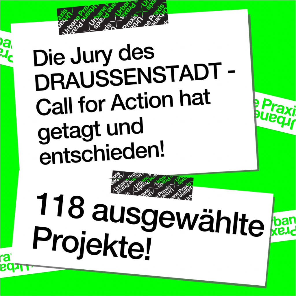 Post-its with information about Call for Action funding