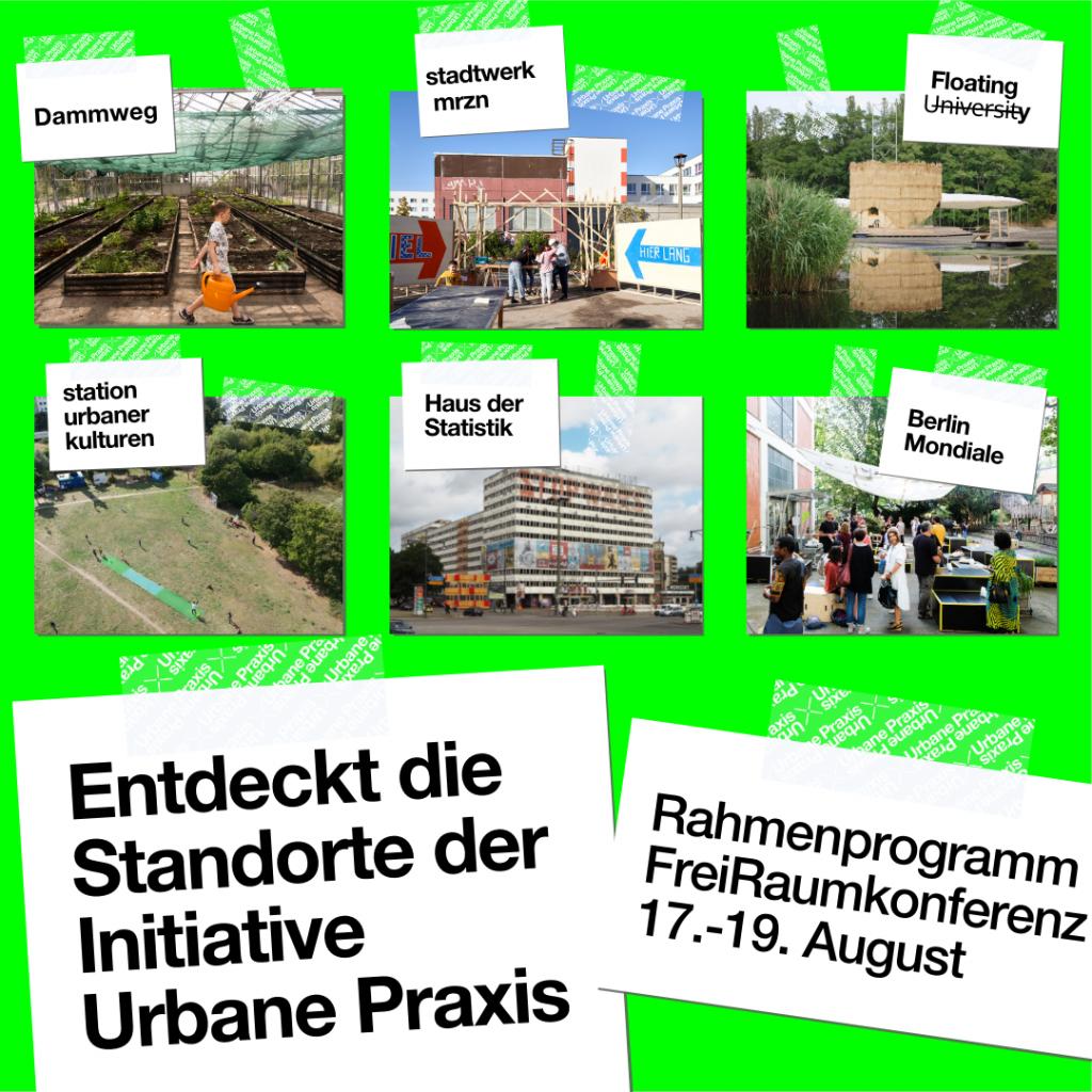 Bilder mit Standorten der Urbane Praxis